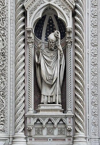 Statue of Saint Zenobius, Presumed first bisho...