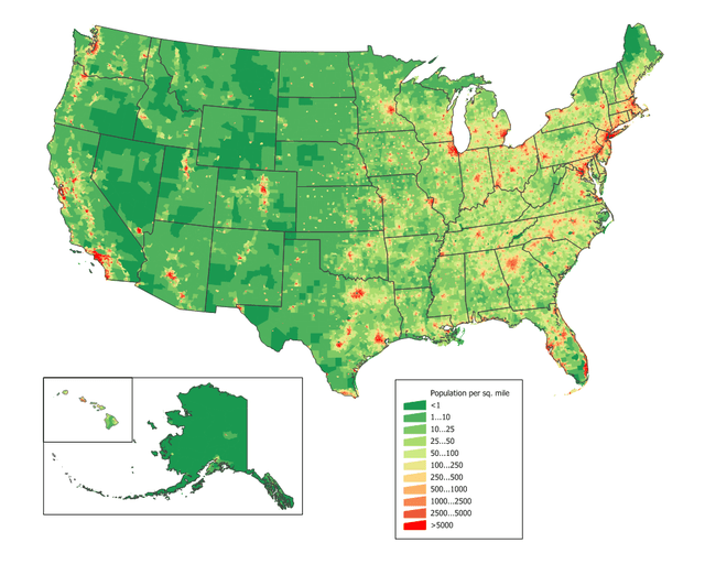 US population map