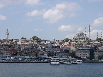 İstanbul manzaralı Süleymaniye Camii