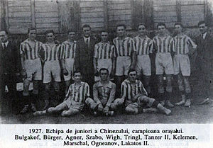 The Romanian football champions Chinezul Timis...