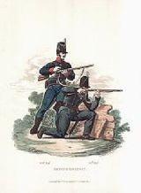 Infantes del batallón Rifles distinguidos en la batalla de Tarqui