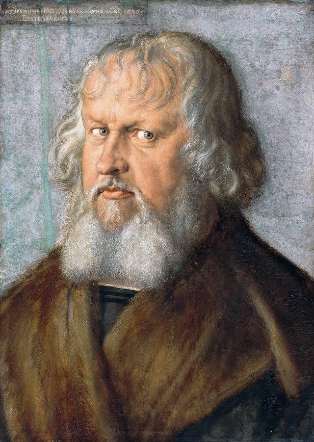 """Portrait of Hieronymus Holzschuher"" by Albrecht Durer"