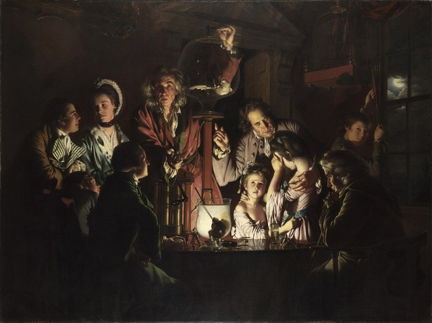 """""""An Experiment on a Bird in the Air Pump"""" byJoseph Wright of Derby"""