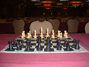 Chess set at Reno competition