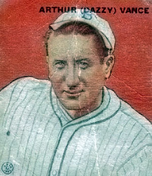 English: A 1933 Goudey Baseball Card of Dazzy ...