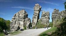 Die Externsteine am Hermannsweg