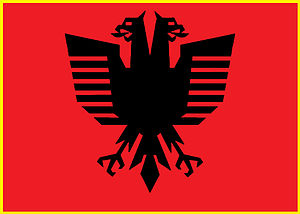 English: New Design of Albanian National Flag