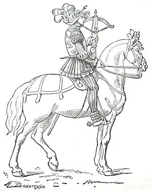 "16th century French mounted crossbowman (""..."