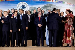 "A ""family"" photo at the G-8 summit i..."