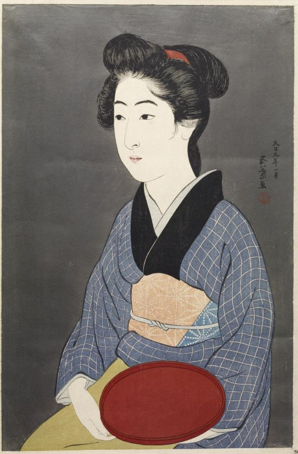 Hashiguchi Goyo - Waitress with a Red Tray - Walters 95882