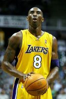 Kobe Bryant, Lakers shooting guard, stands rea...