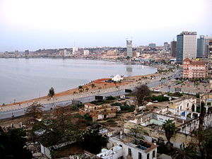 View of the marginal of Luanda, 2010