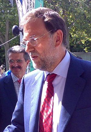 Español: Mariano Rajoy en Valladolid (España) ...