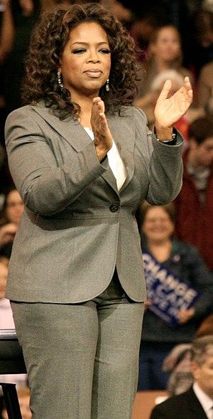 English: Oprah Winfrey when she was with Barac...