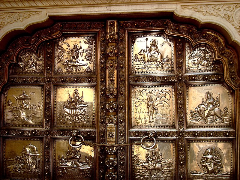 File:Silver door in Amber Fort, Rajasthan.jpg