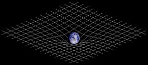 Illustration of spacetime curvature.