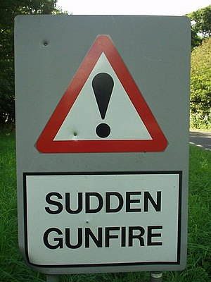 English: They're not kidding Along the road ne...