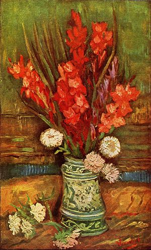 Vase with Red Gladioli, 1886, Private collecti...
