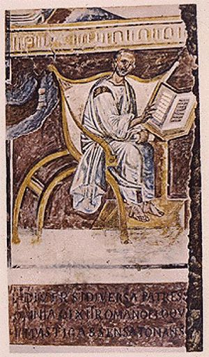Sixth-century portrait of Augustine of Hippo (...