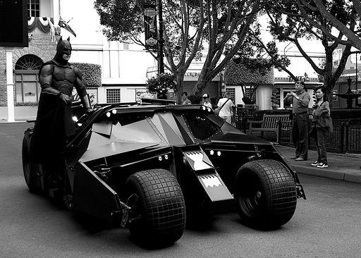 Batman with his new Batmobile (2445955296)