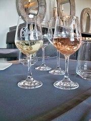 Français : Verres de Beaumes de Venise Blanc e...