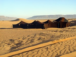 A Berber tent near Zagora, Morocco