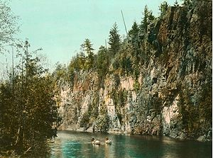 Canoeing on the Pettawawa River in Algonquin P...