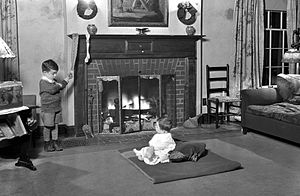"""Chirstmas Eve 1928. """"Christmas Eve in the..."""