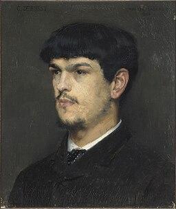 Claude Debussy, portrait by Marcel Baschet (1884)