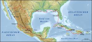 Expedition des Álvar Núñez Cabeza de Vaca 1528...