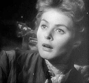 This screenshot shows Ingrid Bergman being gas...