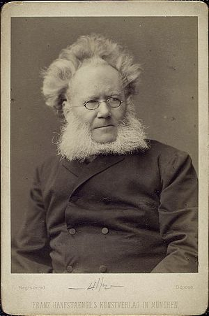English: Norwegian writer Henrik Ibsen photo p...
