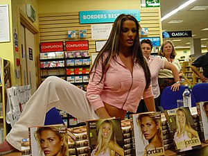 Katie Price (Jordan) at booksigning