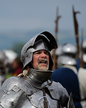 A Knight in a re-enactment of the Battle of Te...