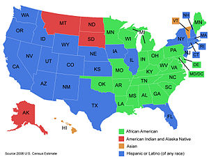 Map of the United States of America showing th...