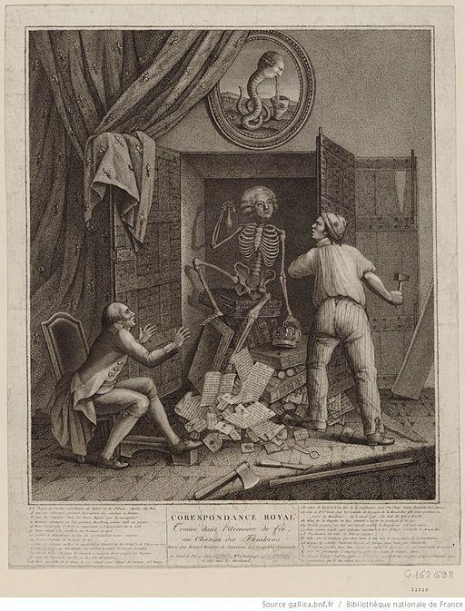 Le squelette de Mirabeau sortant de l'armoire de fer