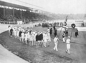 The opening ceremony for the London 1908 Olympic Games