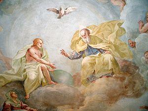 Luca Rossetti da Orta, The Holy Trinity', fres...