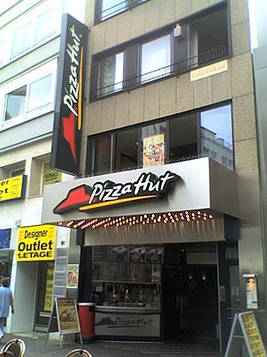 Pizza Hut located at Schildergasse 83, Cologne...
