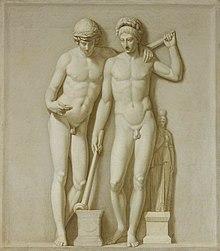 Dioscures Dans la mythologie grecque, Castor et Pollux appelés Dioscures, « jeunes garçons de Zeus »), sont les fils jumeaux de Léda, épouse de Tyndare, roi de Sparte, dont Zeus tomba amoureux.