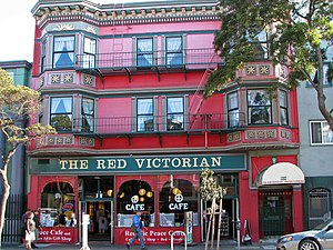 The Red Victorian Hotel, San Francisco, Califo...