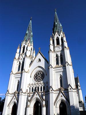 St. John's Cathedral in Savannah, Georgia (USA)
