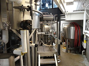 Basic beer brewing equipment. Includes four fe...