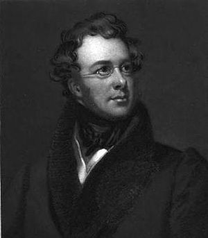 Engraving of American poet Charles Fenno Hoffman.