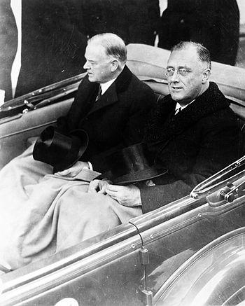 English: Franklin Delano Roosevelt and Herbert...