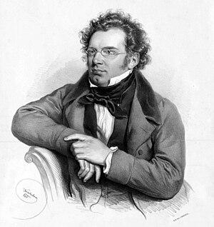 Franz Schubert Lithograph