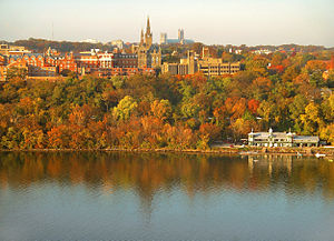 Georgetown University's main campus taken from...
