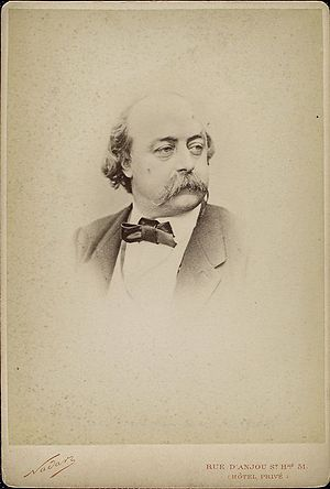 English: French writer Gustave Flaubert photo ...