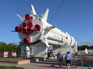 Saturn rocket in the Rocket Garden. The Saturn...
