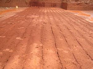 Laterite bricks quarry in koovery. Prepared fo...